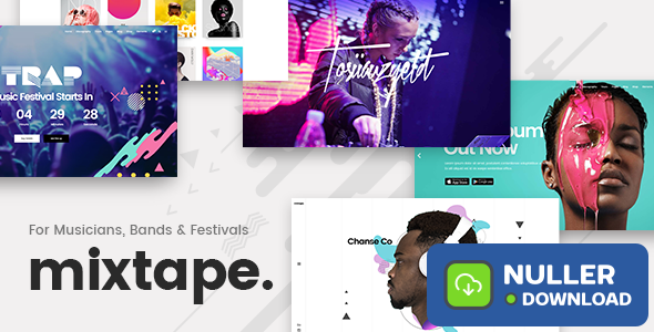 Mixtape v1.8 - Music Theme for Artists, Bands, and Festivals