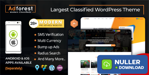 AdForest v4.3.4 - Classified Ads WordPress Theme