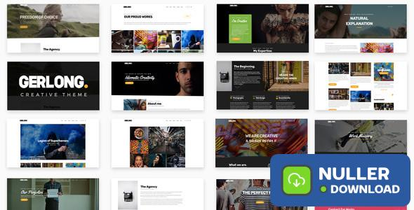 Gerlong v1.1.3 - Responsive One Page & Multi Page Theme