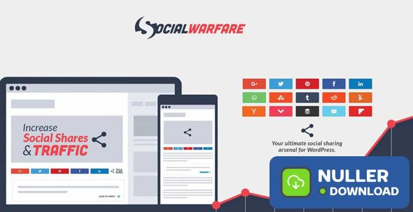 Social Warfare Pro v4.0.1 - Best Social Sharing for Wordpress