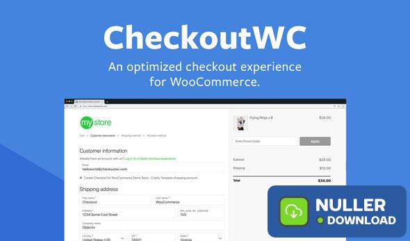 CheckoutWC v3.7.1 - Optimized Checkout Page for WooCommerce