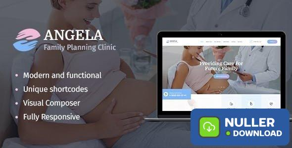 Angela v1.1.1 - Family Planning Clinic WordPress Theme