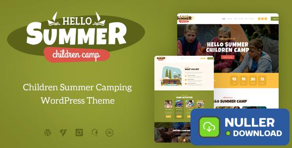Hello Summer v1.0.6 - A Children's Camp WordPress Theme