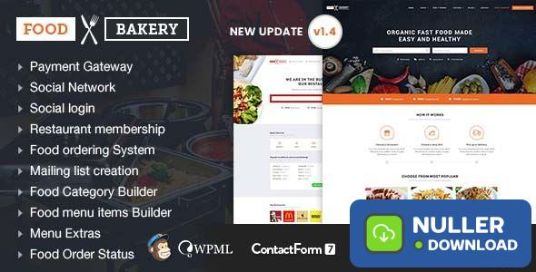 FoodBakery v1.3 - Food Delivery Restaurant Directory Theme