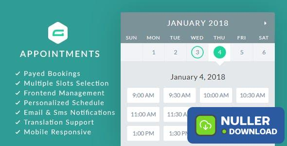 gAppointments v1.9.4 - Appointment booking addon for Gravity Forms